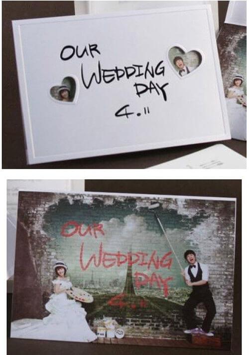 Thành viên Shoo nhóm nhạc S.E.S có một thiệp cưới ngộ nghĩnh, đáng yêu.