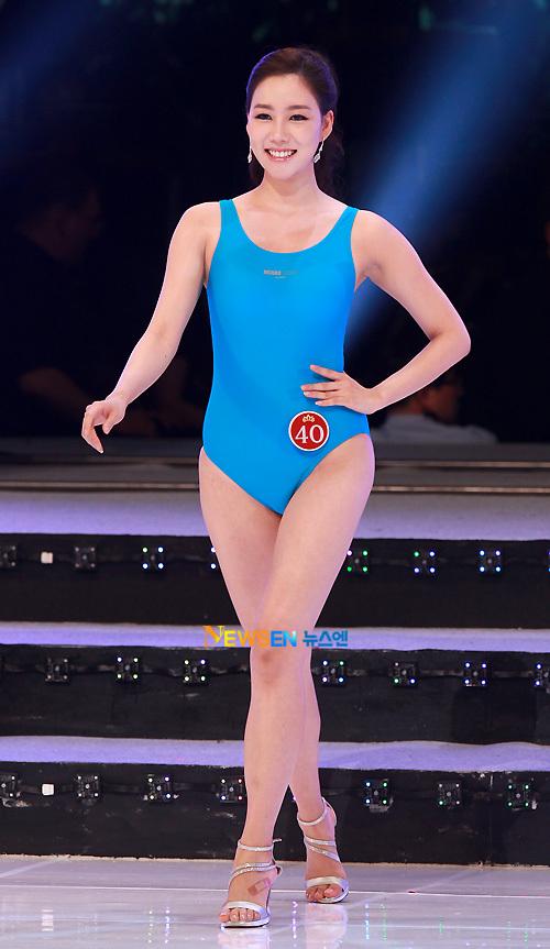 Lee Seong Hee trong phần thi áo tắm.