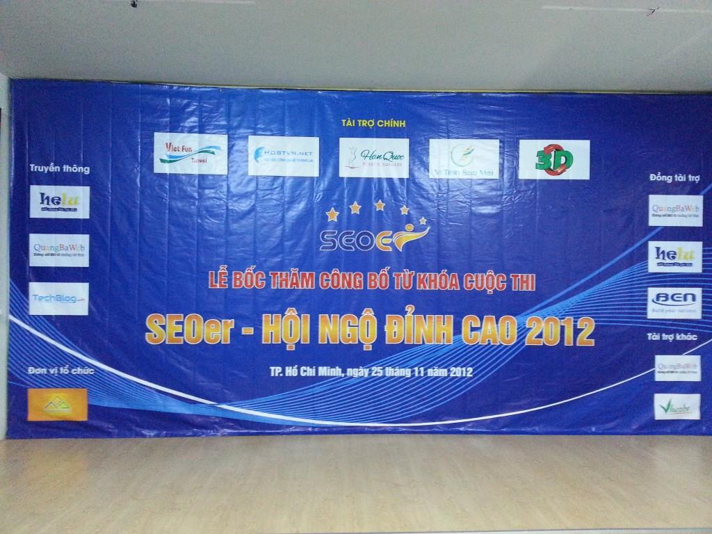 Hân hạnh đồng hành cùng SEOer – Hội ngộ đỉnh cao 2012
