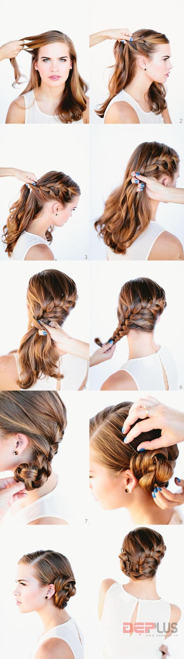 Các kiểu tóc cao cho nữ