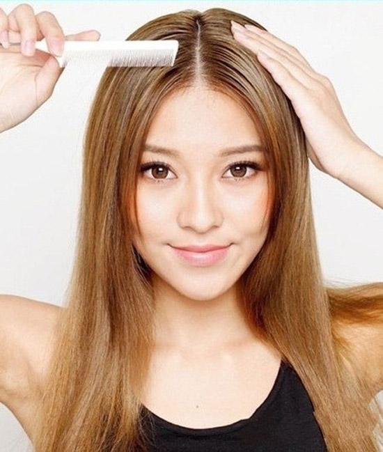 Kiểu tóc cho người trán cao