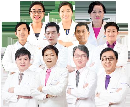 hình ảnh đội ngũ bác sĩ Bệnh viện thẩm mỹ JW