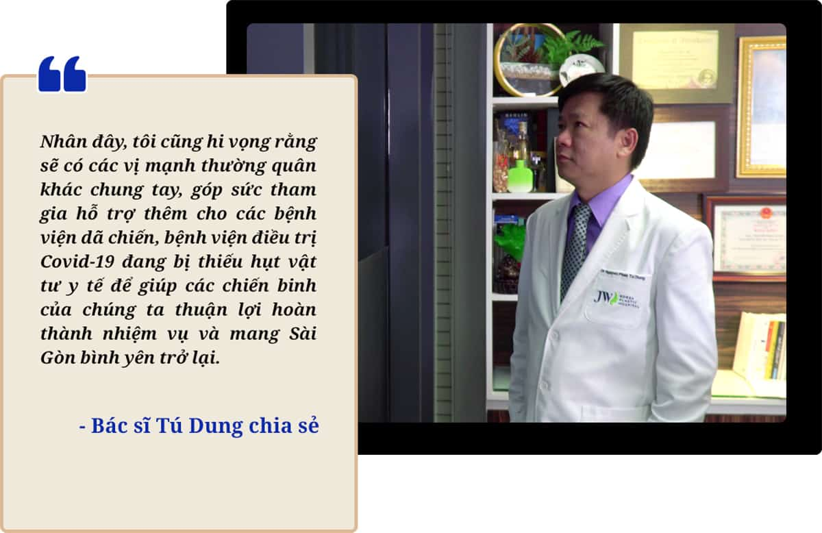 Bệnh viện JW tiếp sức chống dịch