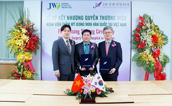 Lễ kí kết nhượng quyền thương hiệu chuẩn Hàn tại JW.