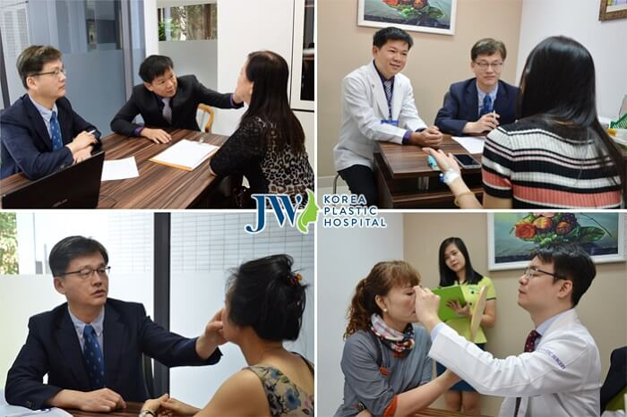 Korean doctors directly examine for customers