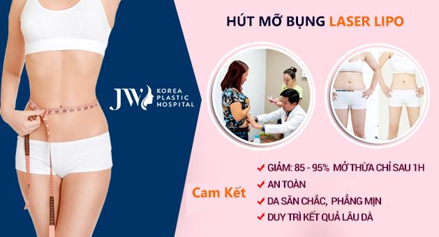 Hút mỡ bụng không cần phẫu thuật - Ưu điểm vượt trội chỉ có ở JW