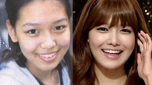 Sooyoung gọt mặt