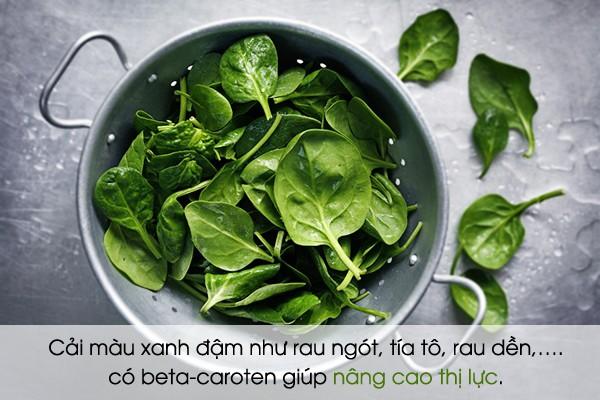 Các loại thực phẩm bổ mắt bạn nên biết