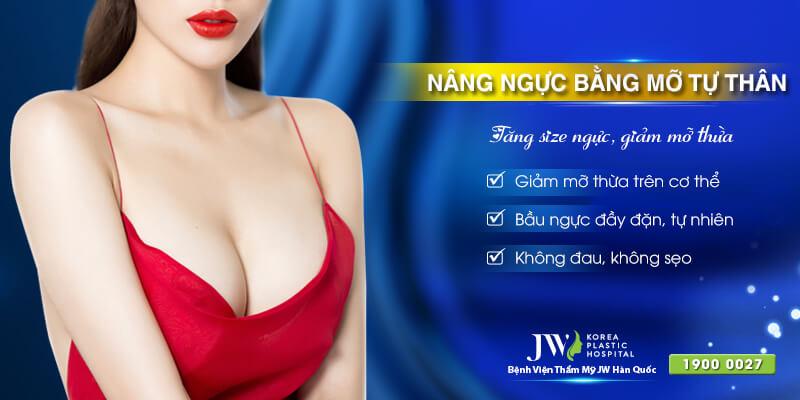 Nâng ngực bằng mỡ tự thân - Tăng size ngực, giảm mỡ thừa.