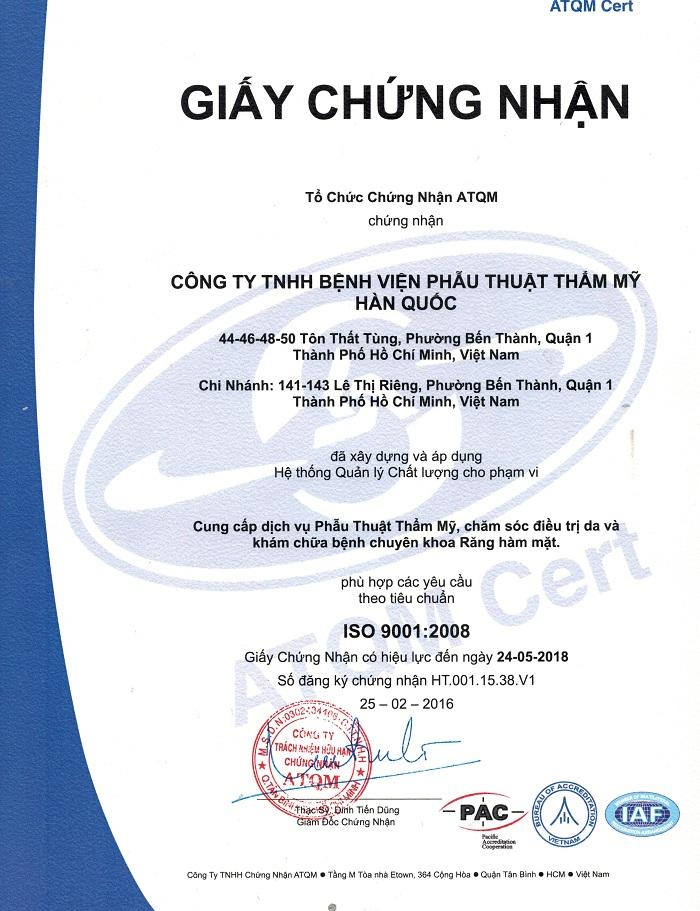 Cong nghe nganh tham my vien tai Viet NamTham my JW Han Quoc