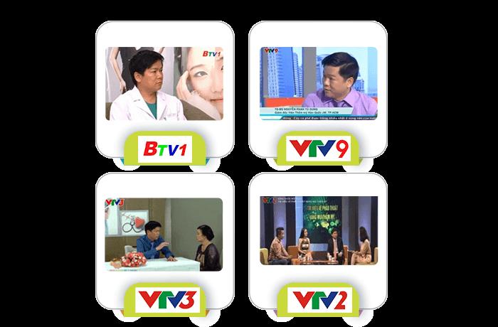 Các kênh truyền hình nổi tiếng nhờ bác sĩ Tú Dung làm cố vấn chuyên môn cho các chương trình làm đẹp