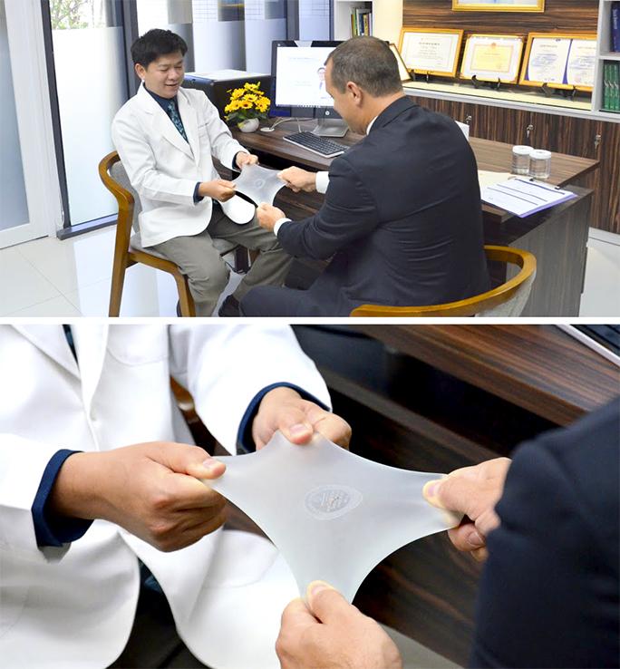 Nâng ngực túi Nano Chip