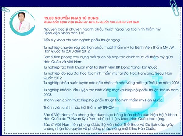 TS.BS Nguyễn Phan Tú Dung - giám đốc Bệnh viện Hàn Quốc JW
