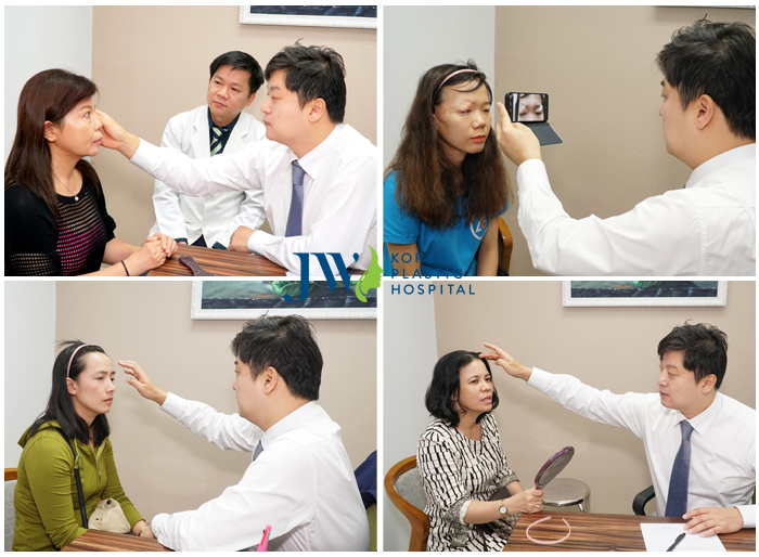 khám mắt trước khi tiến hành phẫu thuật