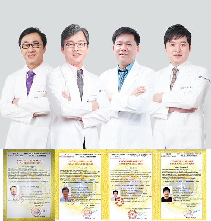 Đội ngũ cố vấn tại JW là những bác sĩ nổi tiếng lỗi lạc trong lĩnh vực thẩm mỹ QUốc tế