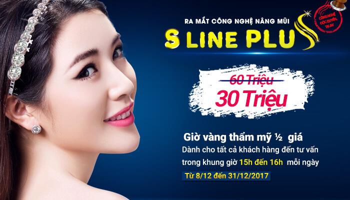 Khuyến mãi giờ vàng – Giảm ngay 50% chi phí phẫu thuật mũi S Line Plus