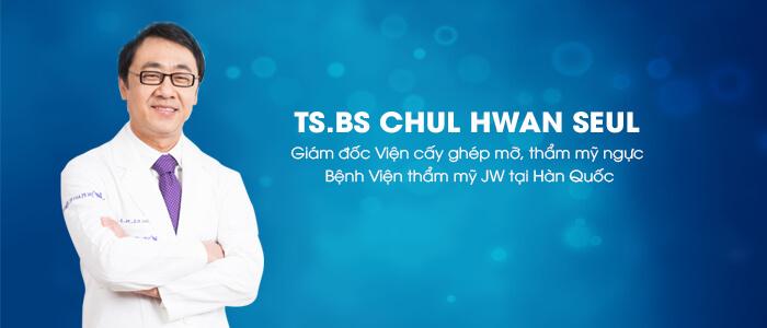 TS.BS Chul Hwan Seul người trực tiếp chuyển giao công nghệ cấy mỡ tại bệnh viện thẩm mỹ JW Hàn Quốc chi nhánh Việt Nam