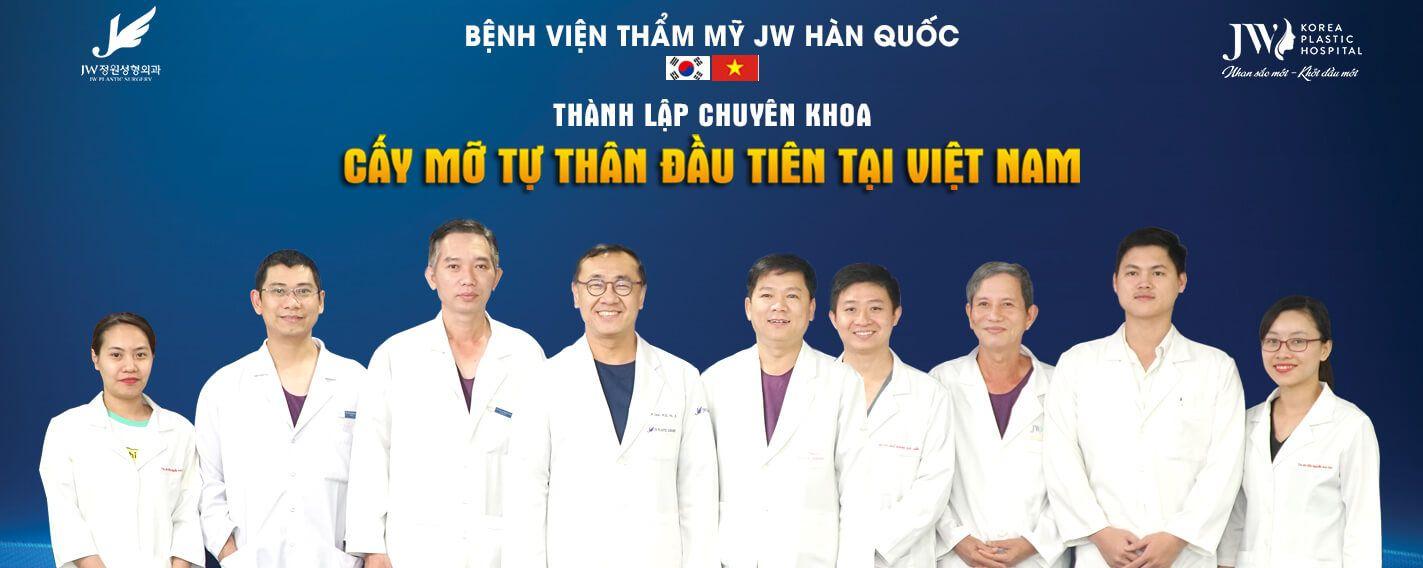 JW thành lập Chuyên khoa cấy mỡ tự thân