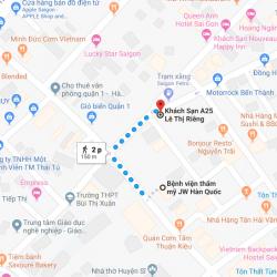 Danh sách khách sạn gần Bệnh viện Thẩm mỹ JW Hàn Quốc