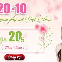 20-10 đẹp cùng người phụ nữ Việt Nam, giảm đến 20%