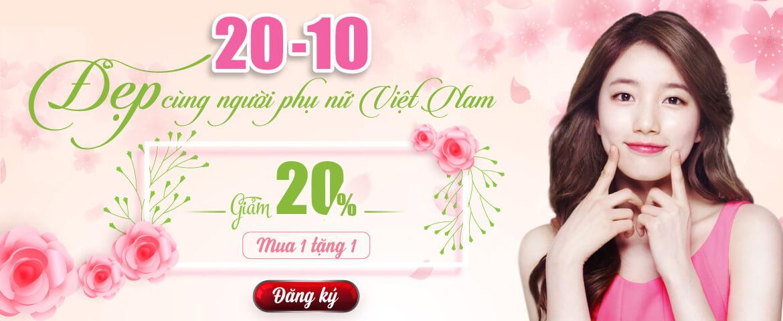Khuyến mãi Đẹp cùng người Phụ nữ Việt Nam 20-10
