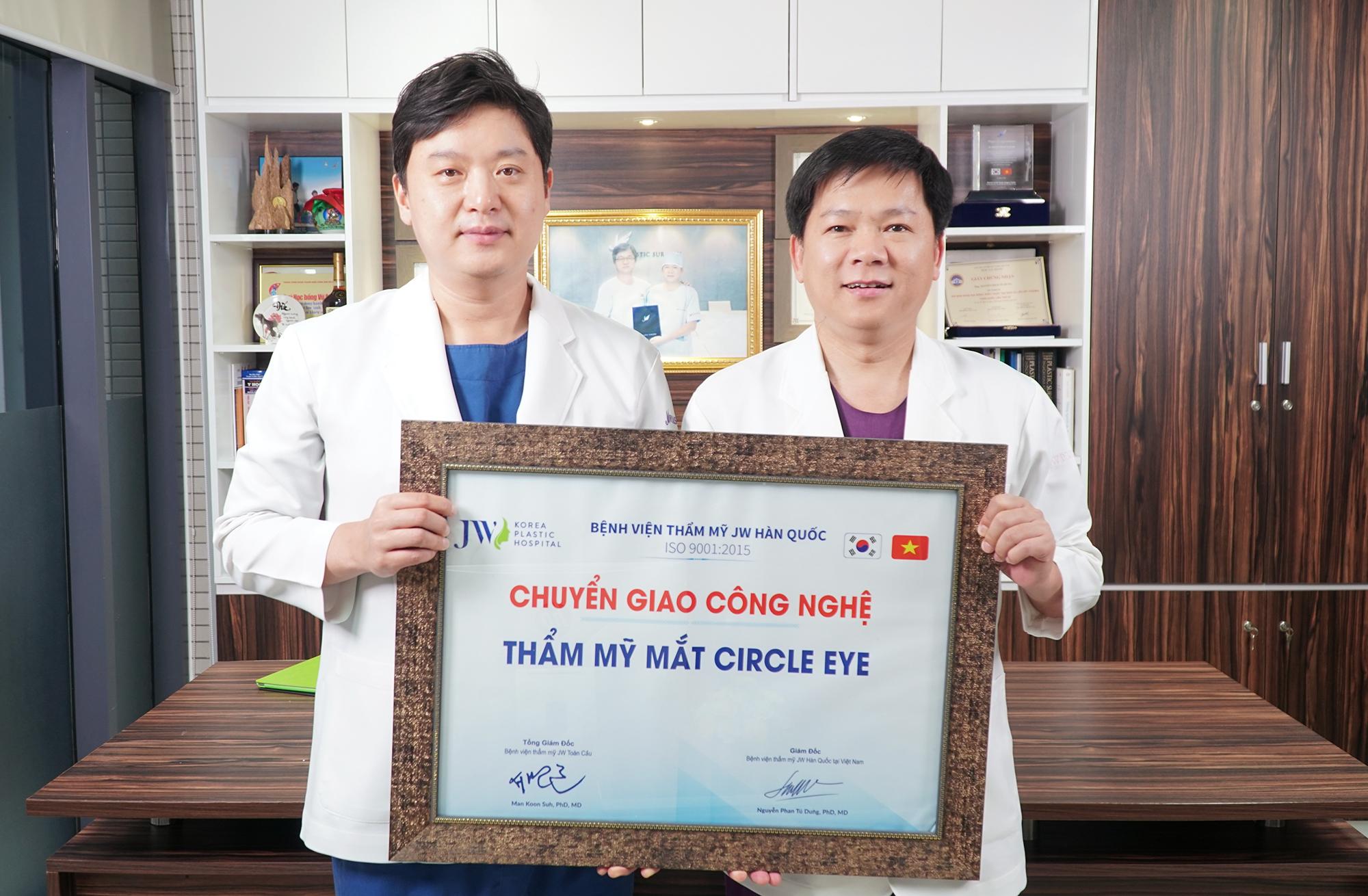 TS.BS Hong Lim Choi - Chủ tịch hội thẩm mỹ mắt Hàn Quốc về Bệnh viện JW chuyển giao công nghệ thẩm mỹ mắt Circle eye