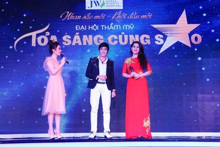 Ca sĩ Trí Trung và ca sĩ Thùy Dương gửi lời cảm ơn tới chương trình
