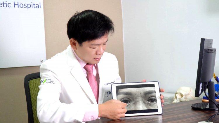 cắt mí mắt, mắt trợn ngược, cắt mắt 2 mí, thẩm mỹ chui, Bác sĩ Tú Dung