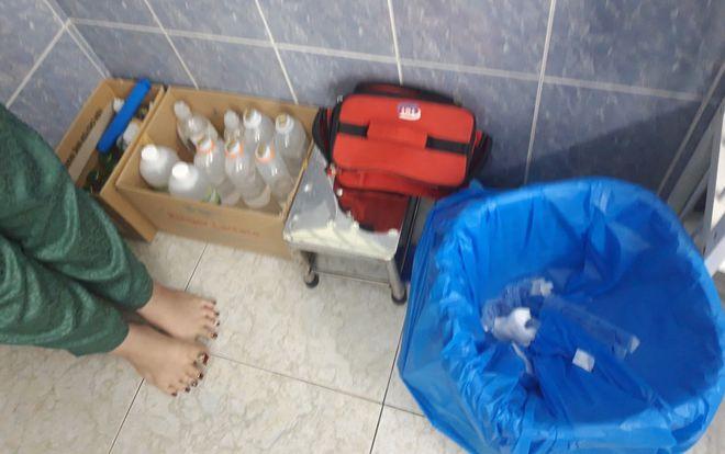 Lổn nhổn các trang thiết bị y tế tại Spa chui