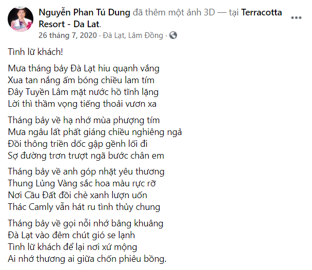 Bác sĩ Tú Dung làm thơ